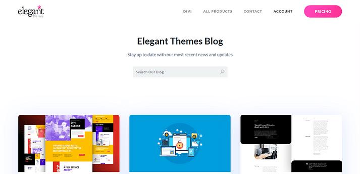 وب سایت Elegant Themes