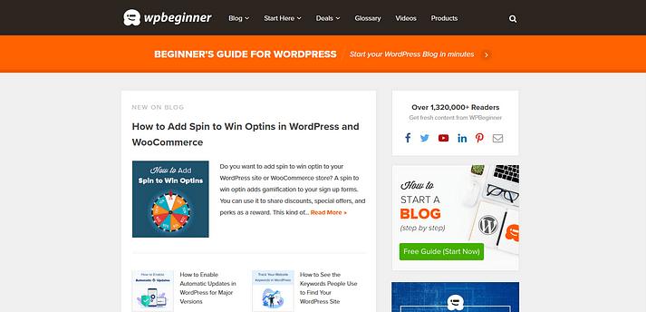 وب سایت WPBeginner