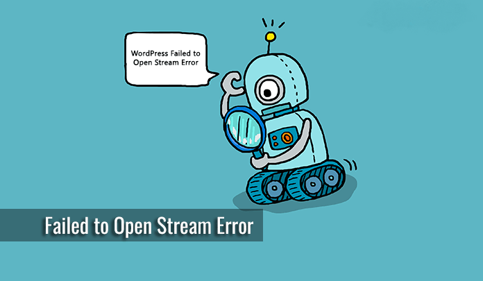 خطای WordPress Failed to Open Stream